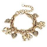 Aiuin argento cavigliera catena Lady Girls spiaggia stile lega elefante cavigliera braccialetto a piedi nudi sandalo spiaggia piede gioielli di matrimonio, con una borsa di gioielli Gold