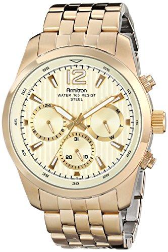 Armitron 20/4991CHGP - Reloj de Pulsera Hombre, Acero Inoxidable, Color Oro