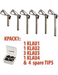 Kpack1. Pack de tornillos de hielo KLAU.