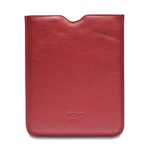 Picard 8111 Busy Rot - praktische Tasche für Tablet (10 Zoll), iPad, iPad Air, Rindsleder