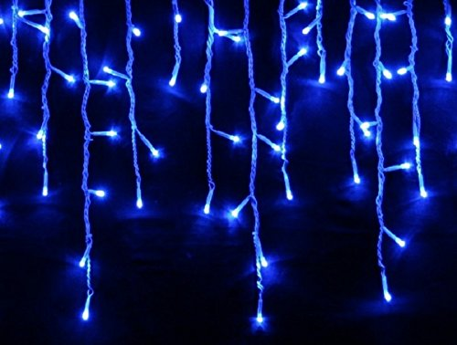 CASCATA LUMINOSA TENDA DI NATALE 192 LED FLASH BLU 510X90 - PROLUNGABILE 15MT