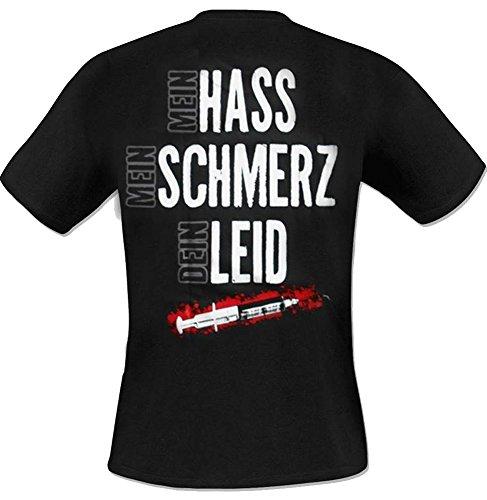 Krawallbrüder - Hass Schmerz Leid T-Shirt Schwarz