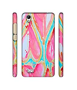 NattyCase Heart Painting Art Design 3D Printed Hard Back Case Cover for Vivo Y31