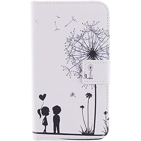 Voguecase® Funda Carcasa Cuero Tapa Case Cover Para Samsung Galaxy Grand 2 II G7106 (5.25 pulgada) (Los jóvenes enamorados)+ Gratis aguja de la pantalla stylus