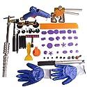 hiyi PDR 59pcs Auto Body Dent Tool zum Entfernen Kits Slider Hammer Dent Lifter mit Taben Brücke Abzieher Set Mini T Abzieher Dent Hammer Hagel Dent Repair Kit