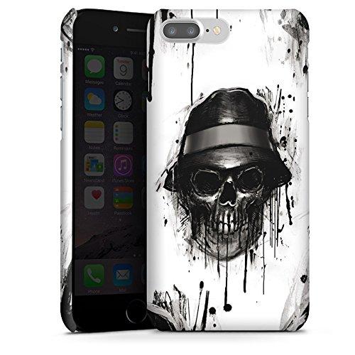 Apple iPhone X Silikon Hülle Case Schutzhülle Totenkopf Hut Skull Premium Case glänzend