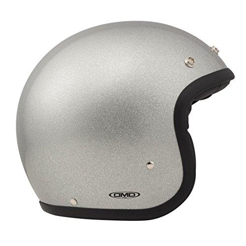 DMD 1jts30000gs03Helm Motorrad, Glitter Silber, M