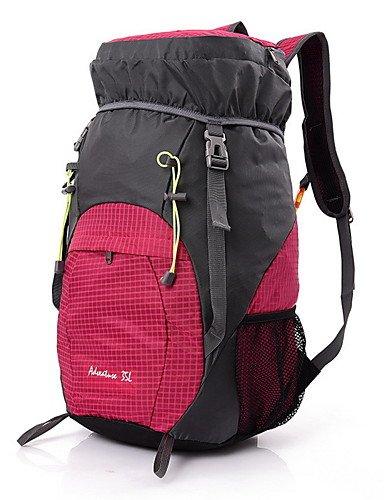 HWB/ 35L L Tourenrucksäcke/Rucksack Camping & Wandern / Klettern Draußen Multifunktions Gelb / Rot / Grau / Blau / Purpur Nylon No Purple