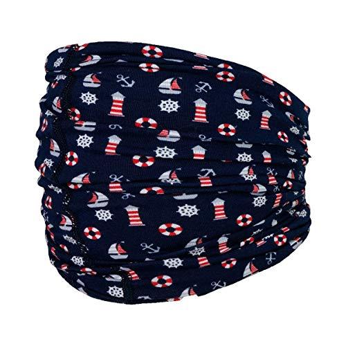 maximo maximo Multifunktionstuch Maritim - vielfältig einsetzbares Kinder-Tuch aus Jersey - blau/rot/weiß