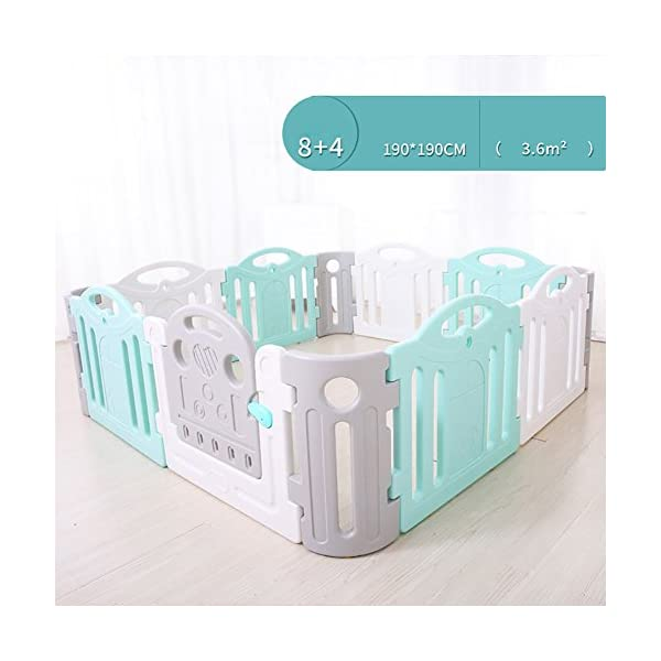 Baby Game Safety Fence Children's Playpen Guardrail Play Yard Indoor Toddler Crawling Door Bar Toy Playground Plastic PE indoor JD Playpen The sturdy material provides a safe environment for your baby. 【Material】: Plastic PE.【Size】: 120*120*68cm , 120*190*68cm , 190*190*68cm 【High Security】: The height of the fence is 68cm, enough for the baby to stand and walk, give your baby a security space; Rotary switch button door,easy access. 2