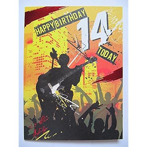 Super colorati Rock Star Happy Birthday 14oggi 14Auguri di compleanno
