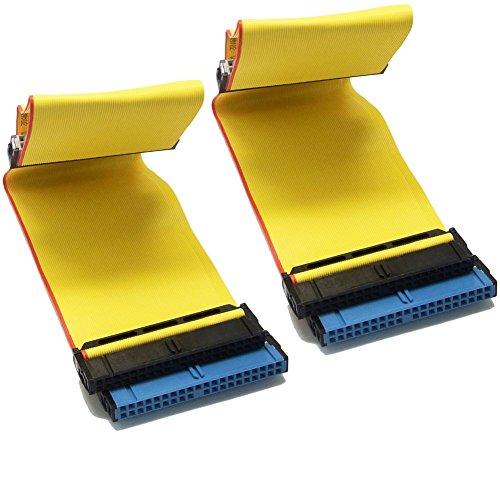Sienoc 2x40cm IDE ATA 40 Pin 80 Wire PATA/EIDE/IDE Hard Drive DVD Ribbon Kabel