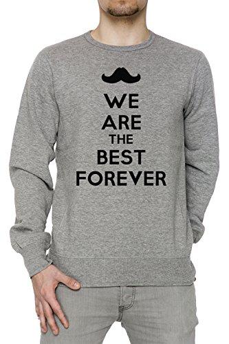 We Are The Best Forever Uomo Grigio Felpa Felpe Maglione Pullover Grey Men's Sweatshirt Pullover Jumper