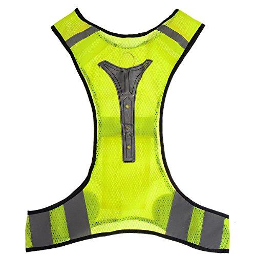 Sicherheitsweste X-Form Reflektierende OUTERDO Ultra-dünner atmungsaktiver Outdoor-Sport Warnweste Sport-Weste für Radfahren Laufen Motorrad Verkehrspolizei Fahrer Rücken-Schulter-Brust-Schutz