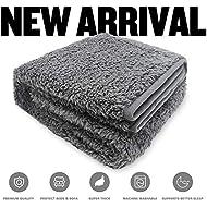 Allisandro® Washable Dog Blanket (80x60cm, Grey) for Cats Puppys Soft Warm Using Premium Fluffy Sherpa Pet Blanket Pet Throw