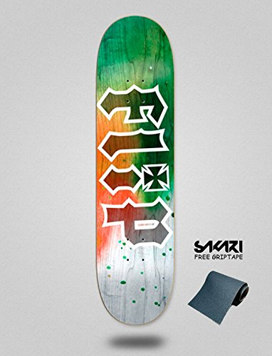 lordofbrands Monopatín Skate Skateboard Flip Deck HKD Tie Dye Orange 8.13
