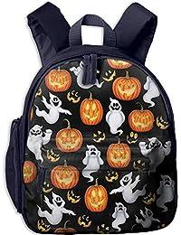 White Ghosts and Pumpkin Lanterns Kid and Toddler Student Backpack School Bag Super Bookbag