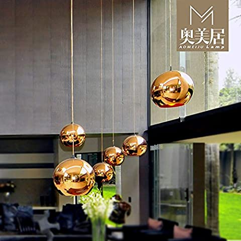 ModernPendantLamp Modern Chandeliers Gold plated copper-colored glass bulb chandeliers lounge