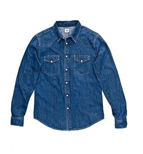 lee-western-chemise-coupe-cintree-homme-bleu-bleu-afbr-fr-x-large