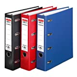 Doppelordner 3er Pack farbig sortiert maX.file protect A4 rot schwarz blau 7cm 2xA5quer Ablage Wechselfenster
