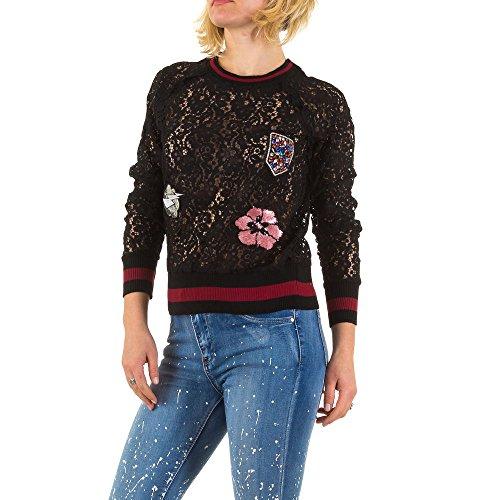 Spitzen Sweatshirt Für Damen bei Ital-Design Schwarz ...