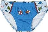Playshoes Jungen Badehose UV-Schutz Fische hellblau, Blau (original 900), 86 (Herstellergröße: 86/92)