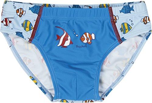 Playshoes Jungen UV-Schutz Fische hellblau Badehose, Blau (original 900), 86 (Herstellergröße: 86/92)