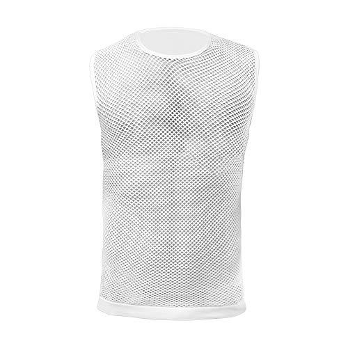 GripGrab Radsport 3-Season Unterhemd Ärmellos Base Layers, Weiß, M/L