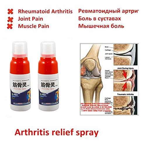 GJPQ Arthritis-Schmerz-Entlastungs-Spray, Entlastungsrheuma-Arthritis, Muskel-Verstauchung-Knie-Taillen-Schmerz (3 pcs) -