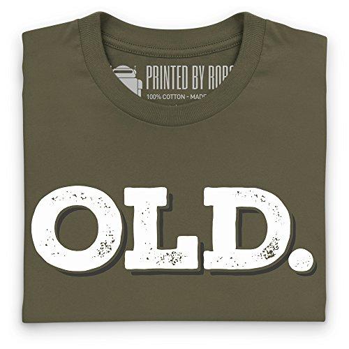 Old T-Shirt, Herren Olivgrn