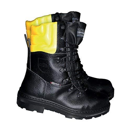 Cofra 25580-000 - Cortar botas resistentes a los trabajadores forestales leñador Up botas de trabajo con protección anticorte 44, Negro