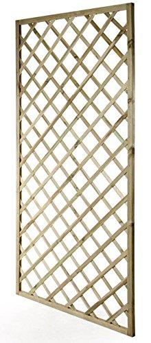 VERDELOOK Grigliato Rettangolare in Legno impregnato per arredo Esterni 100x200 cm