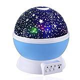Lampada di Illuminazione Notturna, Skybaba Rotante Stella Luna Cielo Proiettore per bambini Regalo di natale camera da letto
