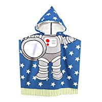 Kids Beach Towel with Hood for Baby Girls Toddlers Children Under Age 6, 60 x 61 cm Soft Microfiber Hooded Bath Towels for Swimming Pool