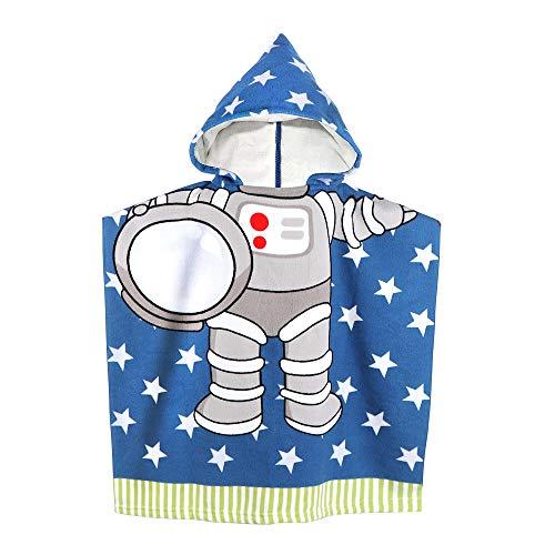 Kapuze für Babys Kleinkinder Kinder unter 6 Jahren, 60 x 61 cm Weiche Mikrofaser-Badetücher mit Kapuze für den Pool (Blau) ()
