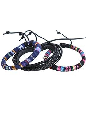 DonDon® Unisex Armbänder Set bestehend aus 3 Armbändern