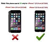 Iphone 7 Hülle,EIISION Mode-Design sehr dünn anti-dropping PC Handy Hülle (schwarz) - 2