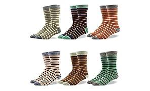 RIORIVA Herrensocken Herren Socken Strumpf Businesssocken Beruf Anzug Freizeit Funny Gesreift Kariert Gepunktet Mehrfarbig Bunt (5 Paar Streifen klassisch #04X, EU 46-49 / UK 12-14)