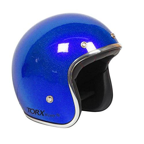 Casco Moto Wyatt Shiny Glitter Blue: XL