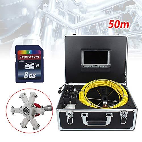 Rohr Inspektionskamera 50M Abwasserkanal Industrie Endoskop Kanalinspektion Kamera Pipeline Ablauf Inspektionkamera Schlangen Video Inspektions System Wasserdichtes mit 7