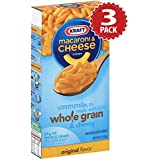 Kraft Macaroni au Fromage Whole Grain - Multipack de 3 (3x170g)