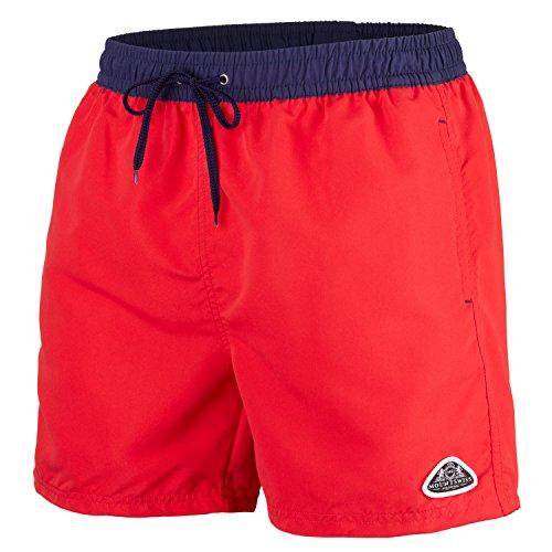 Mount Swiss Herren MS Badeshort, 5013, red-Navy, Gr. XL - Gear Boxer Shorts