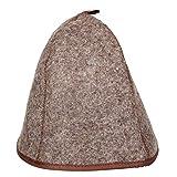 Saunahut Verschiedene MOTIVE und SPRÜCHE Saunakappe Saunamütze Sauna Filz Kappe Lustige Hüte (Neutral ohne Bestickung)