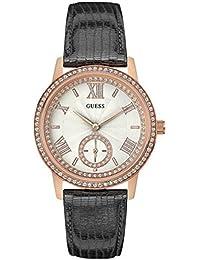 Guess Damen-Armbanduhr Analog Quarz Leder W0642L3