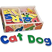 Melissa & Doug 10448 52 Wooden Alphabet Magnets in a Box with Uppercase and Lowercase Letters