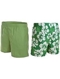 2 en 1! Hommes tournant troncs / caleçons de bain / shorts / Uni / Hibiscus Conception / Octopus 1261 -f5321