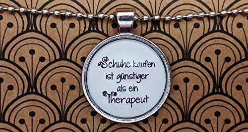 Spruchkette by Perletta 80 cm Kugelkette mit 2,5 cm Anhänger silber Damen Schuhe Schuhe kaufen ist günstiger als ein Therapeut