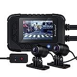 "Motorcycle Dash Cam 1080p Dual Lens Motorcycle Recording Camera 2.35"" LCD IP67 Waterproof"