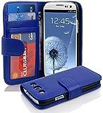 Cadorabo - Book Style Hülle für Samsung Galaxy S3 / S3 NEO (I9300) - Case Cover Schutzhülle Etui mit 3 Kartenfächern in KÖNIGS-BLAU