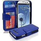 Cadorabo - Book Style Hülle für Samsung Galaxy S3 / S3 NEO (I9300) - Case Cover Schutzhülle Etui mit 3 Kartenfächern in NEPTUN-BLAU